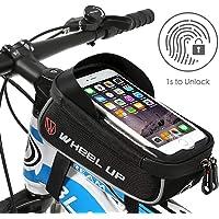 Hikenture® fietstas met vingerafdruk ontgrendeld (Touch ID) waterdichte frametas met TPU-touchscreen, bovenbuiszak voor…