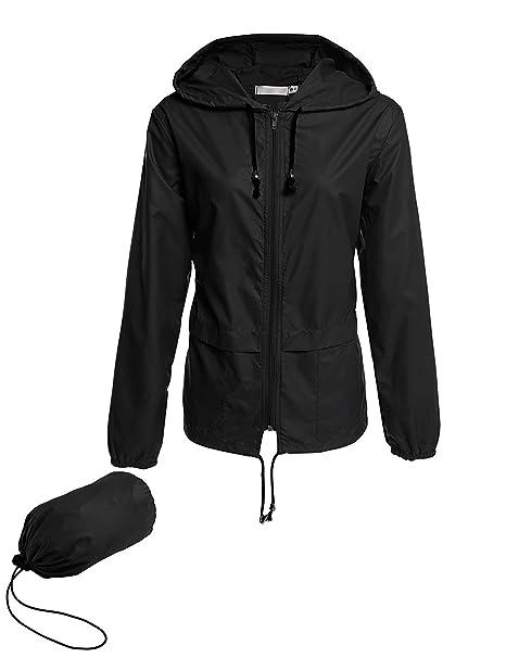 novel style choose official marketable Besshopie Rain Jackets for Women, Lightweight Zip Up Hiking Travel Cycling  Hooded Waterproof Raincoat
