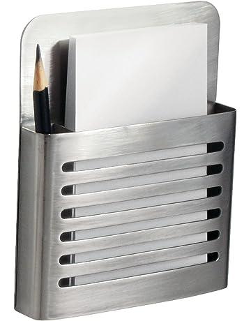 interDesign Forma Magnetic Modern Pen and Pencil Holder, Metal Writing Utensil Storage Organizer for Kitchen