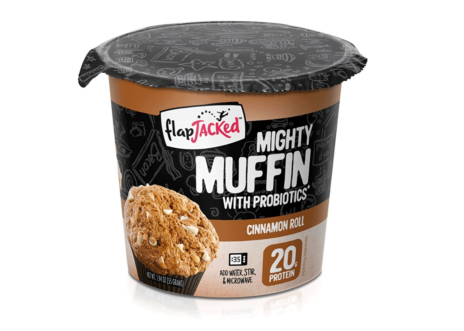 FlapJacked Mighty Muffins, Cinnamon Roll, 6 Pack by FlapJacked (Image #2)