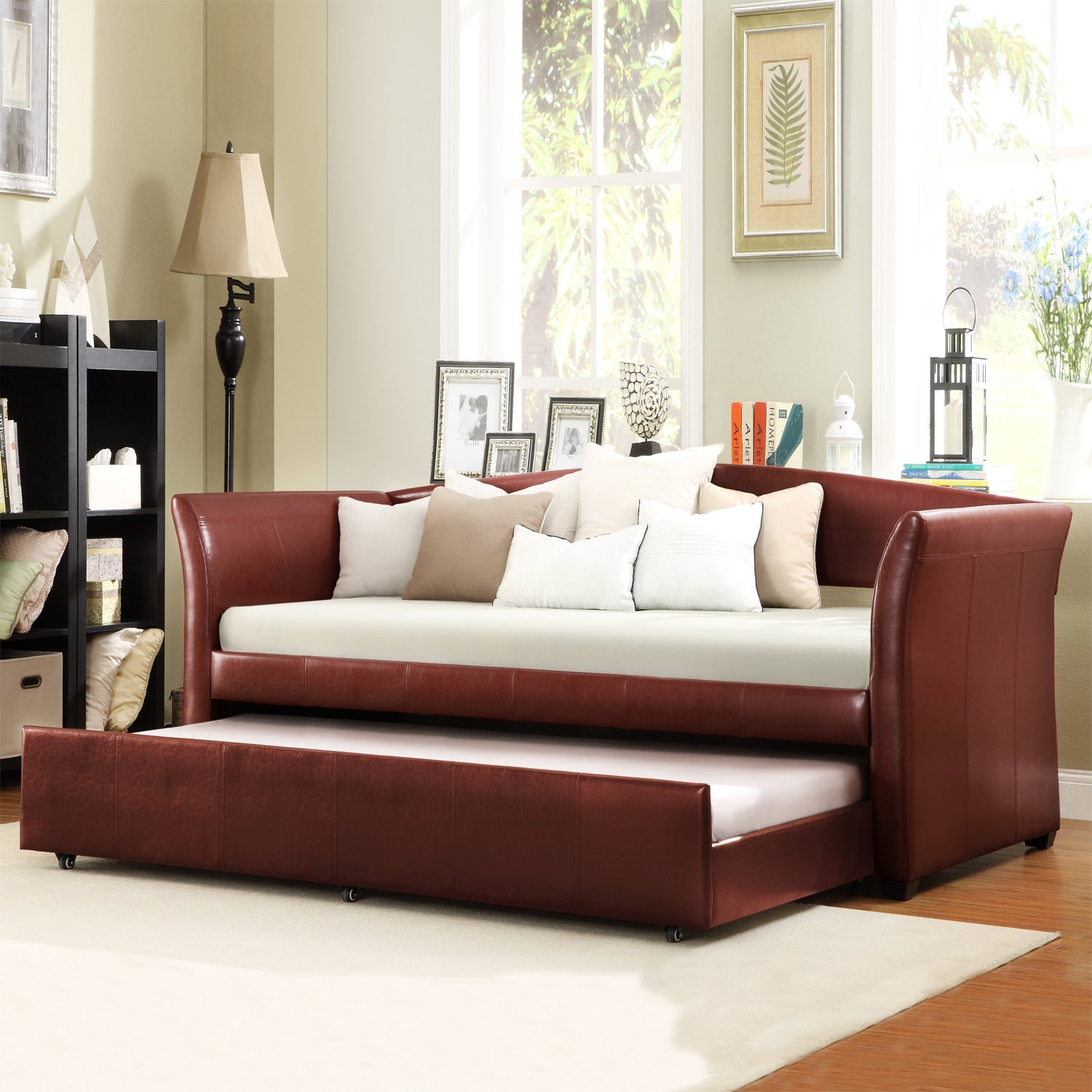 Amazon Metro Shop TRIBECCA HOME Deco Wine Red Faux Leather