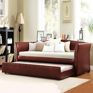 Amazon.com: Metro tienda Tribecca Casa Deco Vino Rojo Piel ...