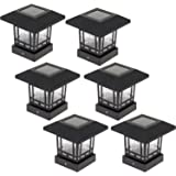 Westinghouse Solar 20 Lumens 4x4 Post Lights for Wood Posts (Black, 6 Pack)