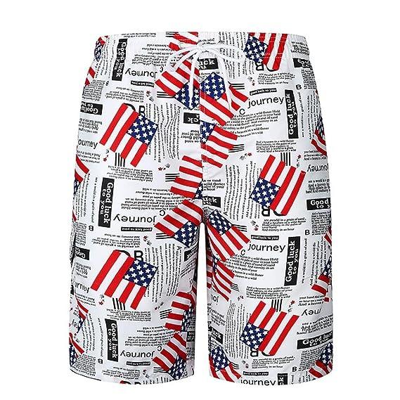 3ed2749c8be4 Shorts Herren Rosennie Männer Casual bedruckt Pocket Strand Arbeit Casual  Männer kurze Hosen Shorts jungen Sweatpants