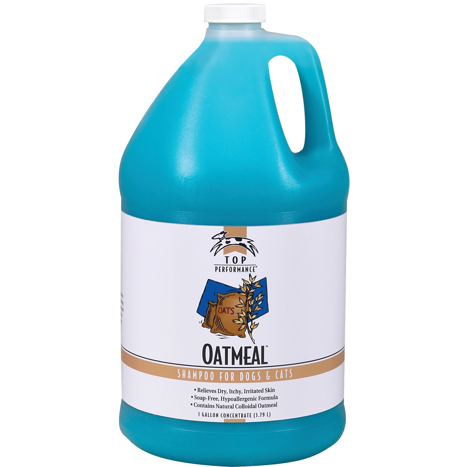 Top Performance Oatmeal Dog and Cat Shampoo, 1-Gallon by Top Performance