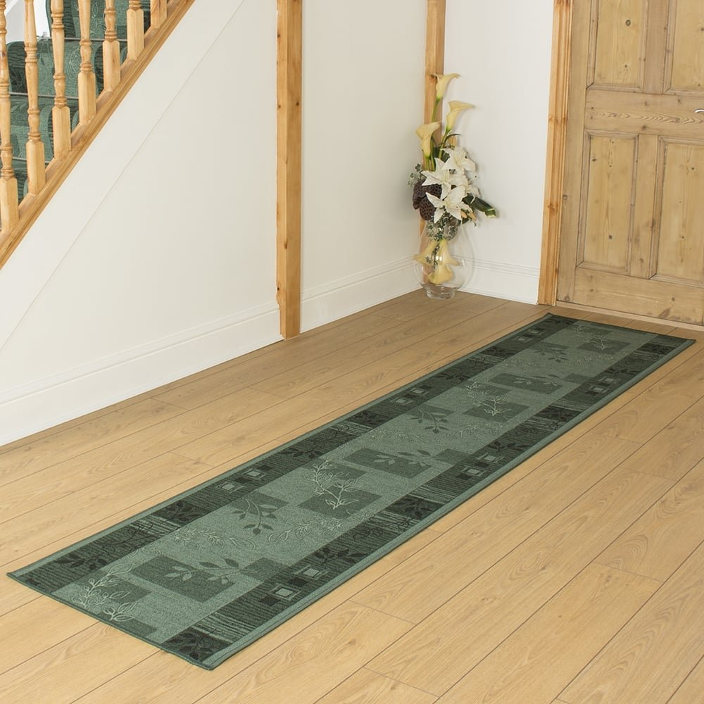Agadir Green - Hall & Stair Carpet Runner (Available in any length up to 30m) Carpet Runners UK