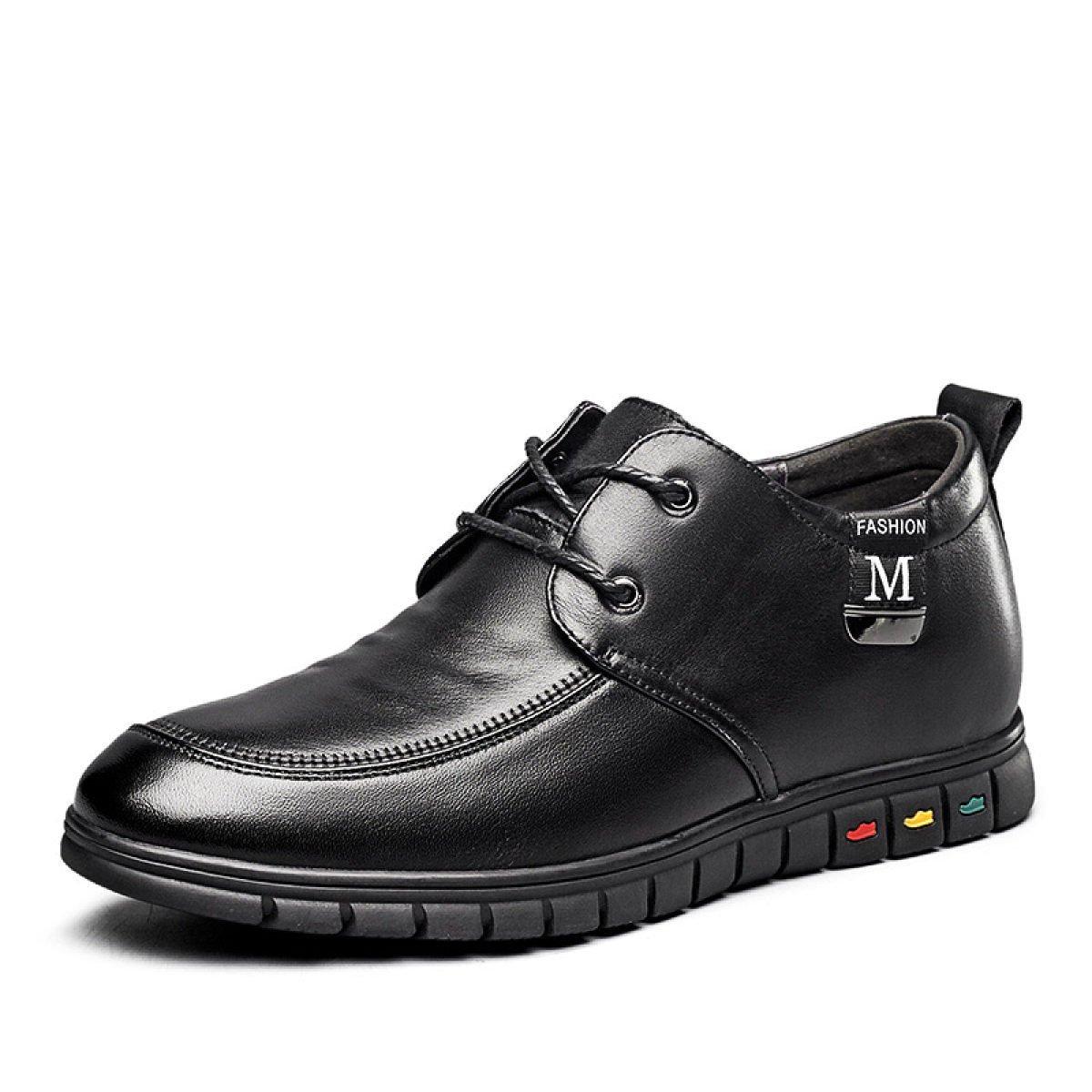 MUYII Herren Oxfords Leder Kleid Schuhe Erhöhte Höhe Ferse 25 MM Casual Lace Up Herren Rutschfeste Schuhe Business-Schuhe für Männer
