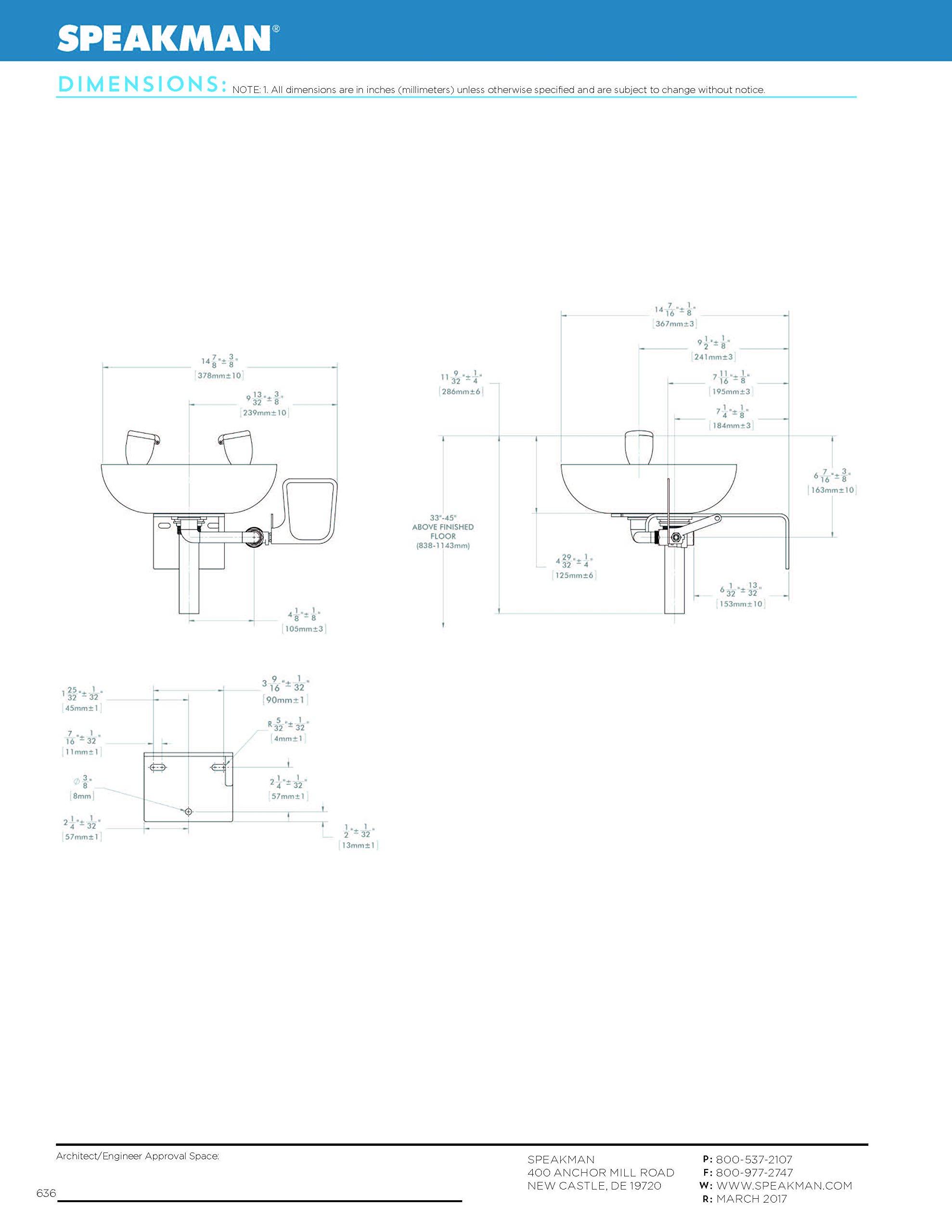 Speakman Traditional Series SE-580 Wall Mounted Eyewash with Plastic Bowl by Speakman (Image #7)