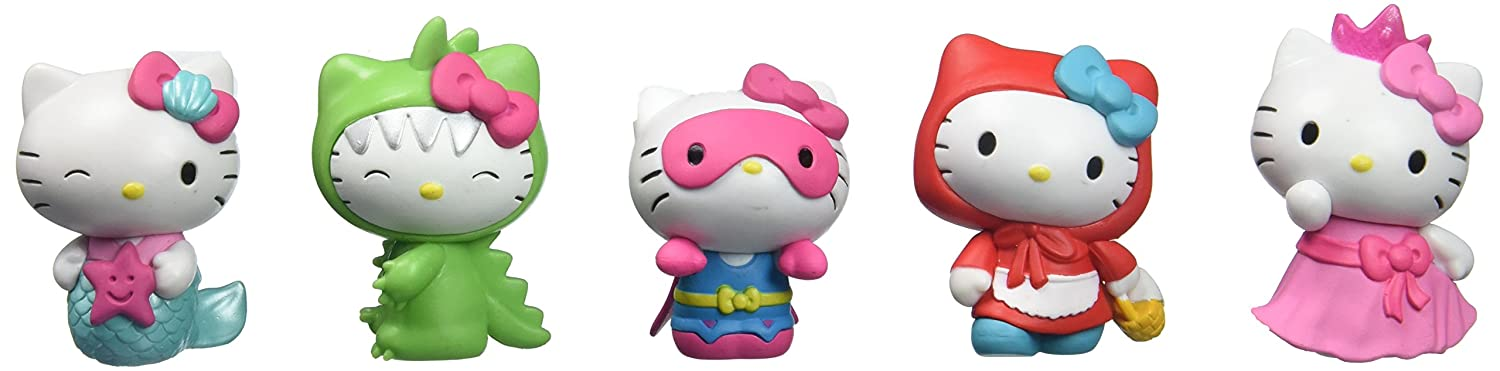 Just Play Hello Kitty Figures 5 pk Figures Toy Figure Just Play - Import 25505