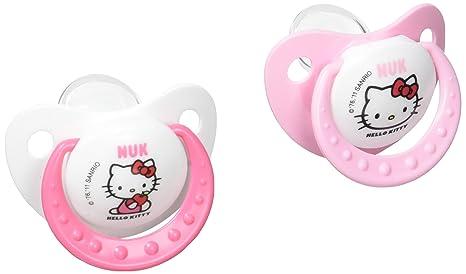 Nuk 710302 - Chupetes (2 unidades, T 2), diseño de Hello Kitty