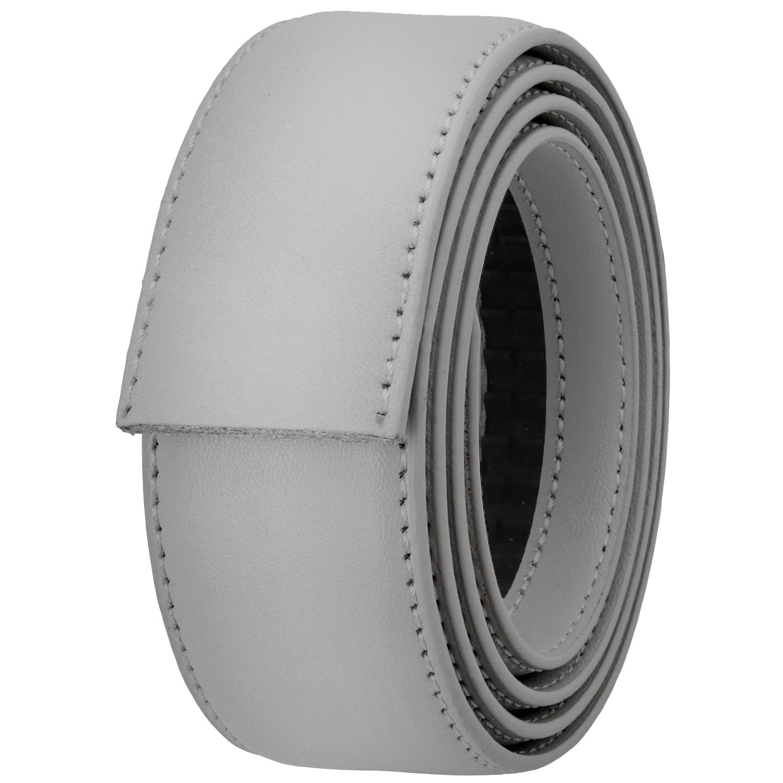 Falari Men's Leather Ratchet Belt Strap 8004-LGY-L40 by Falari (Image #3)