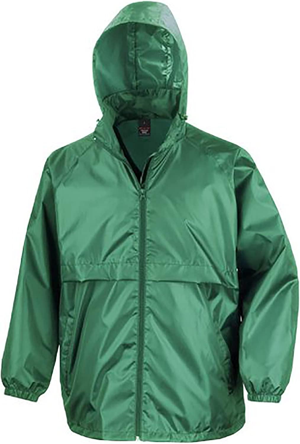 M Red Result Mens Core Adult Windcheater Water Windproof Jacket