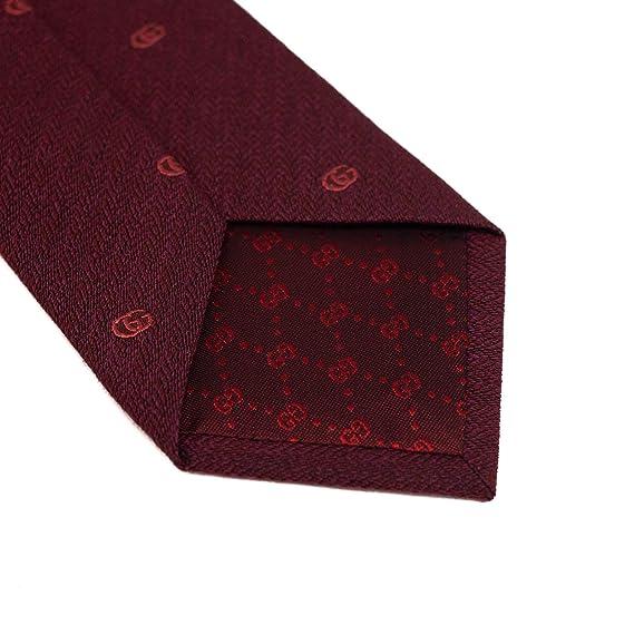 Gucci Silk GG - Corbata para hombre, diseño estampado, color rojo ...