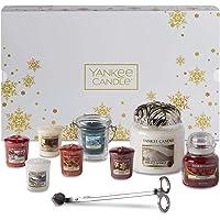 YANKEE CANDLE Confezione Regalo Natalizia con Candele Profumate e Accessori, Set da 11 Candele