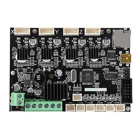 Ganquer Super Silent Integrado Mini 3D Impresora V1.1.5 24V Tarjeta Madre para Ender 3 Pro - Negro, Free Size