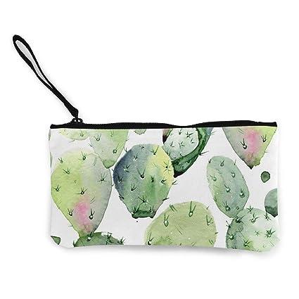 TTmom Carteras de Mujer,Monedero,Watercolor Cactus Pattern ...