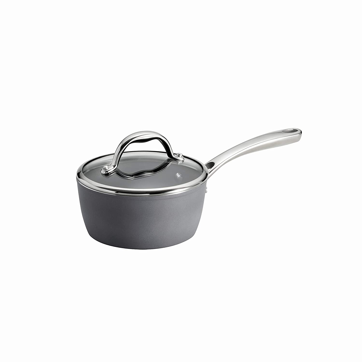 Tramontina 80110/098DS Gourmet Induction Aluminum Nonstick Covered, Made in Italy 1.5-Quart Sauce Pan, Slate Gray