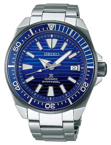 Seiko Reloj de Hombre automático 44mm Correa y Caja de Acero SRPC93J1: Amazon.es: Relojes