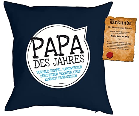 Geschenk Für Papa Zum Vatertag Kissen Mit Füllung Und