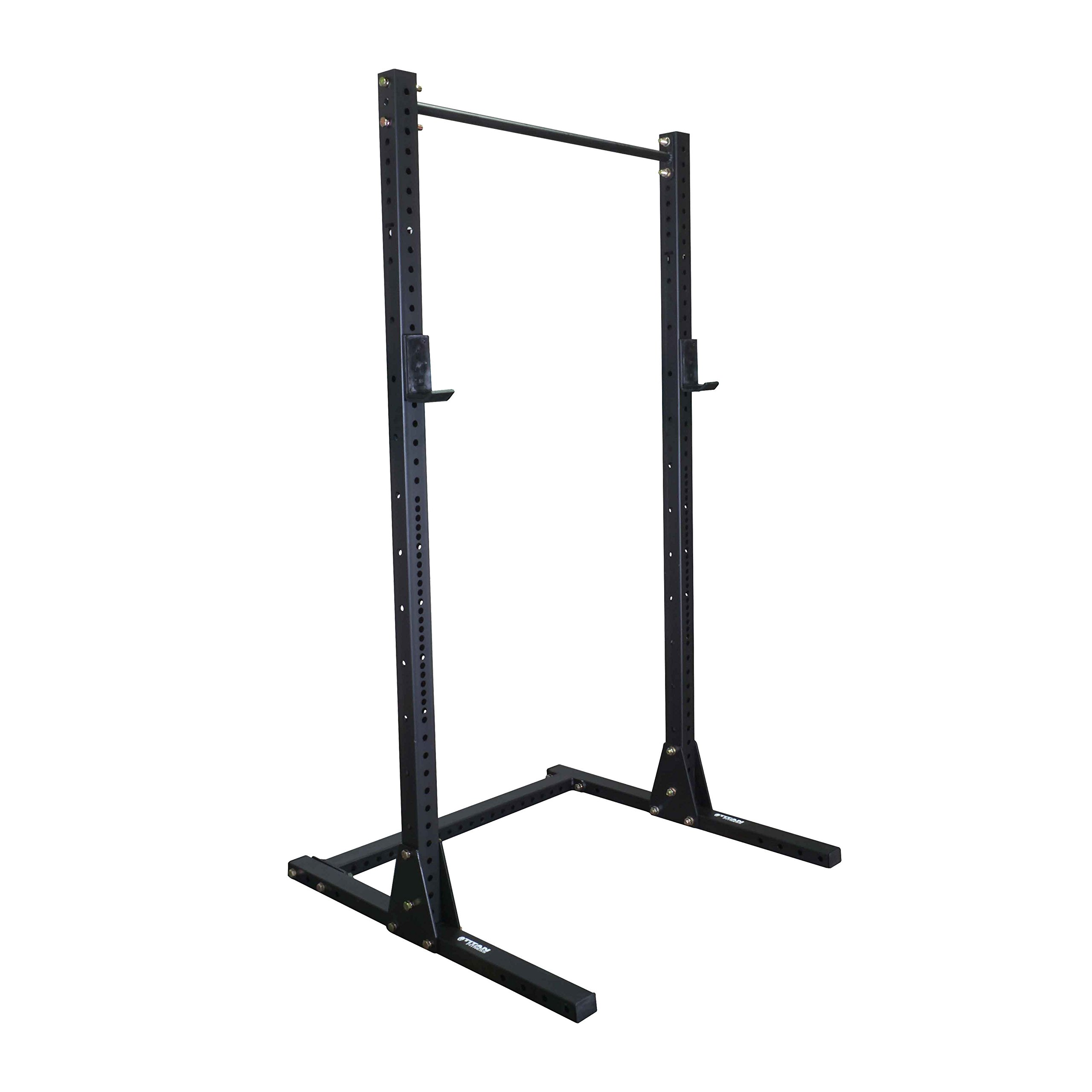 Titan X-3 Adjustable Squat Stand w/ Pull Up Bar 3'' x 3'' Heavy Duty by Titan Fitness