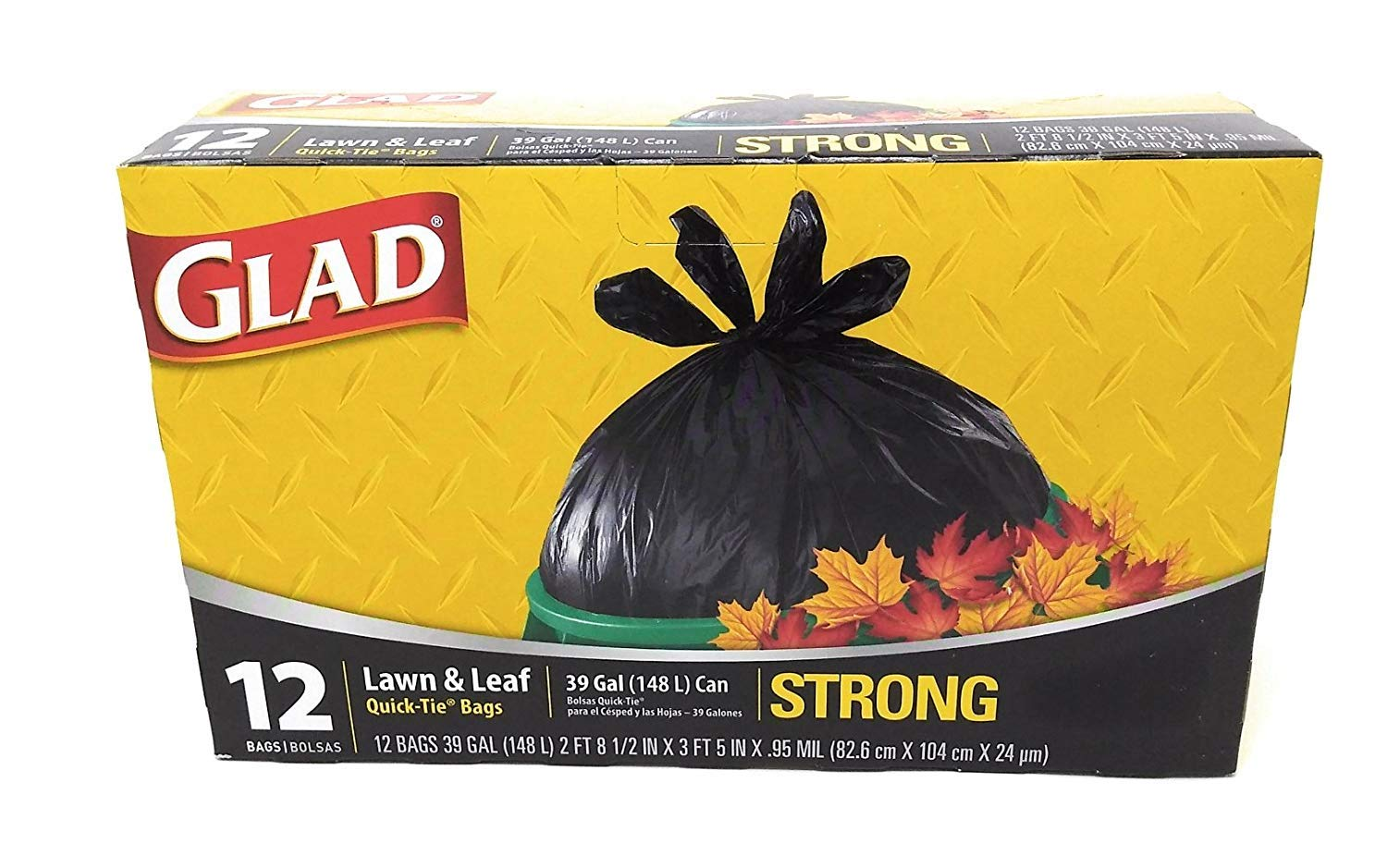 More buying choices for Glad 39 Gallon Quick Tie Lawn & Leaf Bags - 12 Packs by Glad