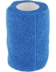 7.5cm First Aid Medical Ankle Finger Wrist Care Self-Adhesive Bandage Gauze Tape - 5 Colors - Blue