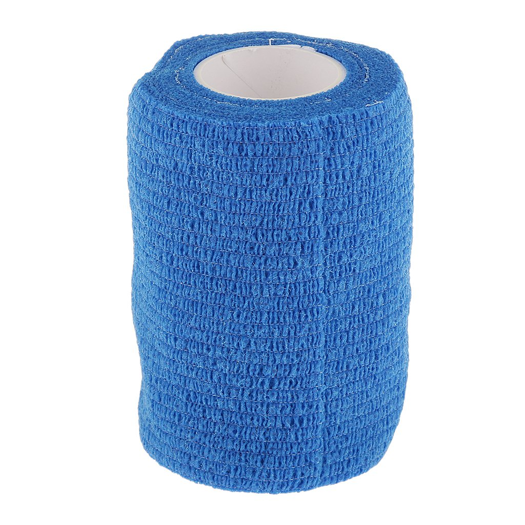 Banda de Compresi/ón Primeros Auxilios Atenci/ón Tobillo Cinta Autoadhesiva Vendaje Gasa Azul 7.5cm para Mu/ñeca Articulaci/ón