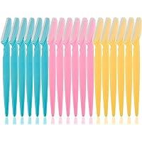 18 maquinillas de afeitar para cejas, afeitadoras faciales