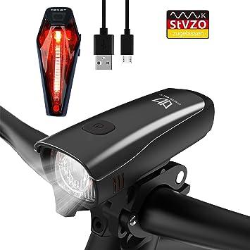 Fahrradlampe StVZO zugelassen NEU Fahrradlicht LED Fahrradbeleuchtung Set