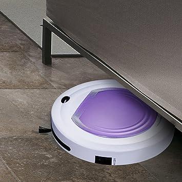 steily inteligente mopa Robot aspirador con mando a distancia para Hosehold de limpieza, color morado