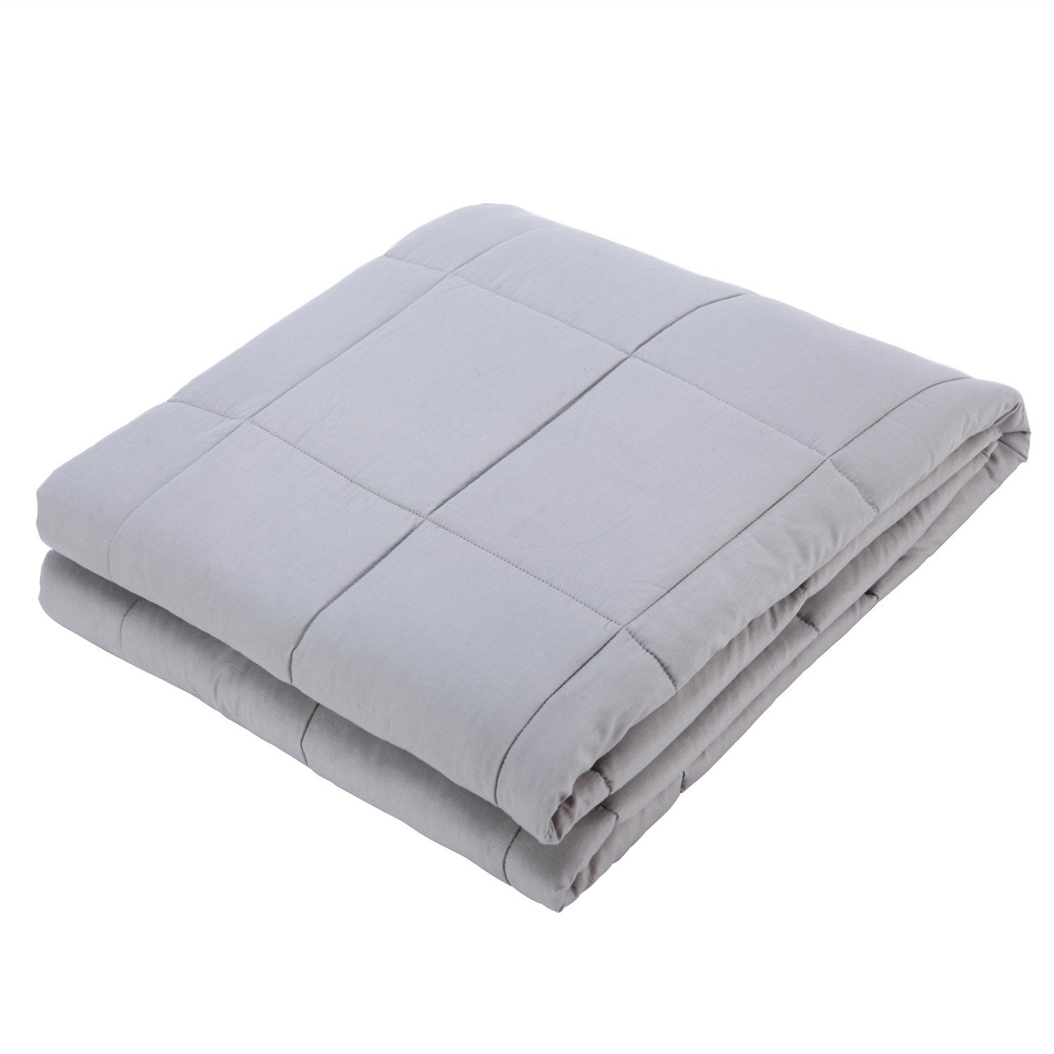 Royhom Weighted Blanket for Adults & Kids | Gravity Blanket, Silver Grey 48'' x 72'' - 15lbs for 100-150lbs Individual, Great for Anxiety, Insomnia, Autism, ADHD, PTSD and sensory processing disorders