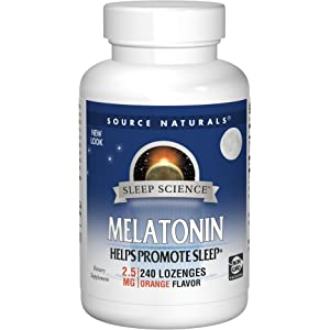 Source Naturals Sleep Science Melatonin 2.5mg Orange Flavor - 240 Lozenges