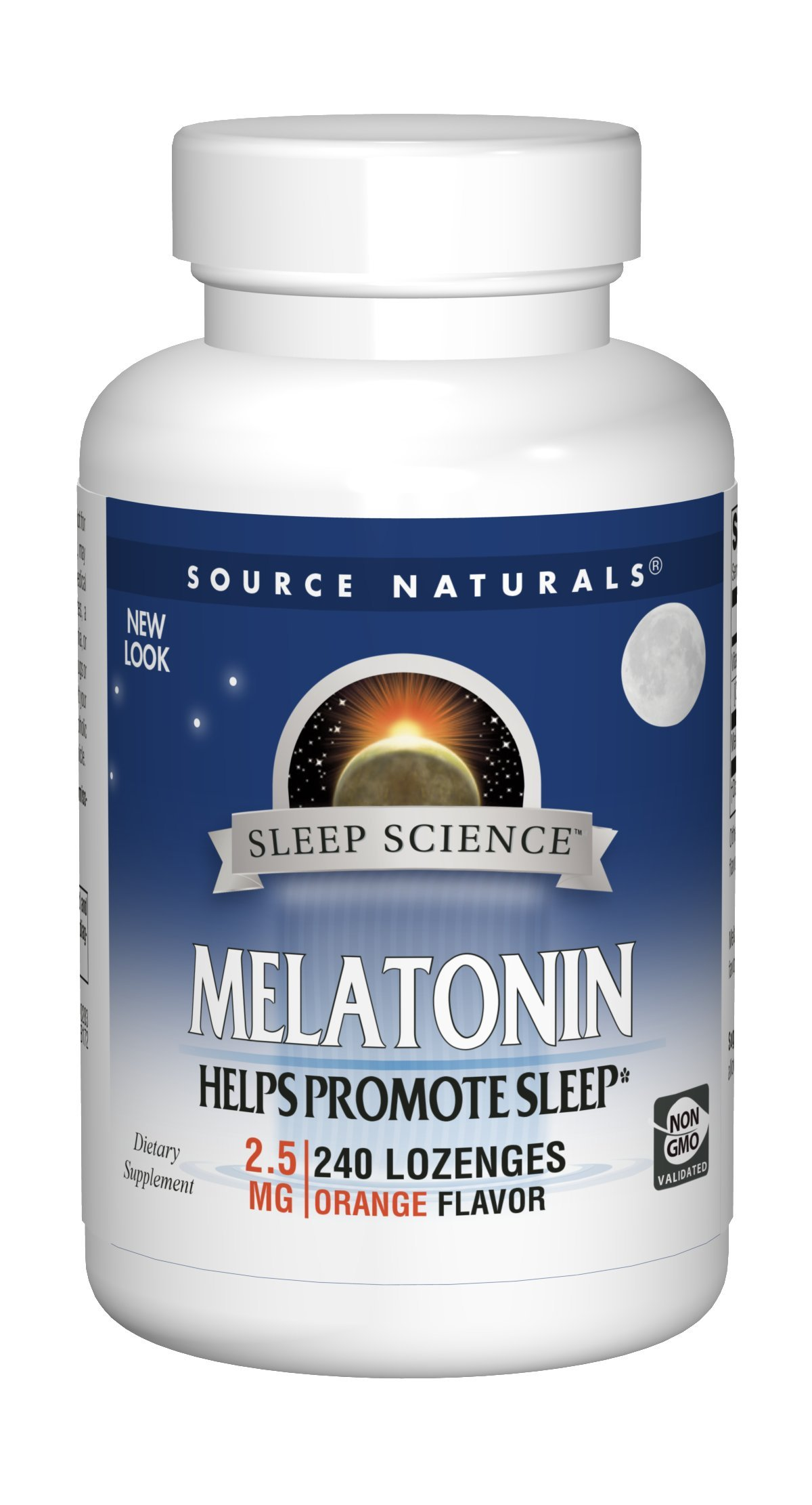 Amazon.com: Source Naturals Sleep Science Melatonin 2.5mg Orange Flavor - 240 Lozenges: Health & Personal Care