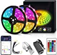 YORUKAU Led Strip Lights - RGB 300 LEDs - Controlled by WiFi Smart Phone - Bluetooth or Key Remote - Waterproof - Led Lights for Room Decor - 10M/32.8Ft SMD 5050 - Led Strip Lights 10M for Bedroom -