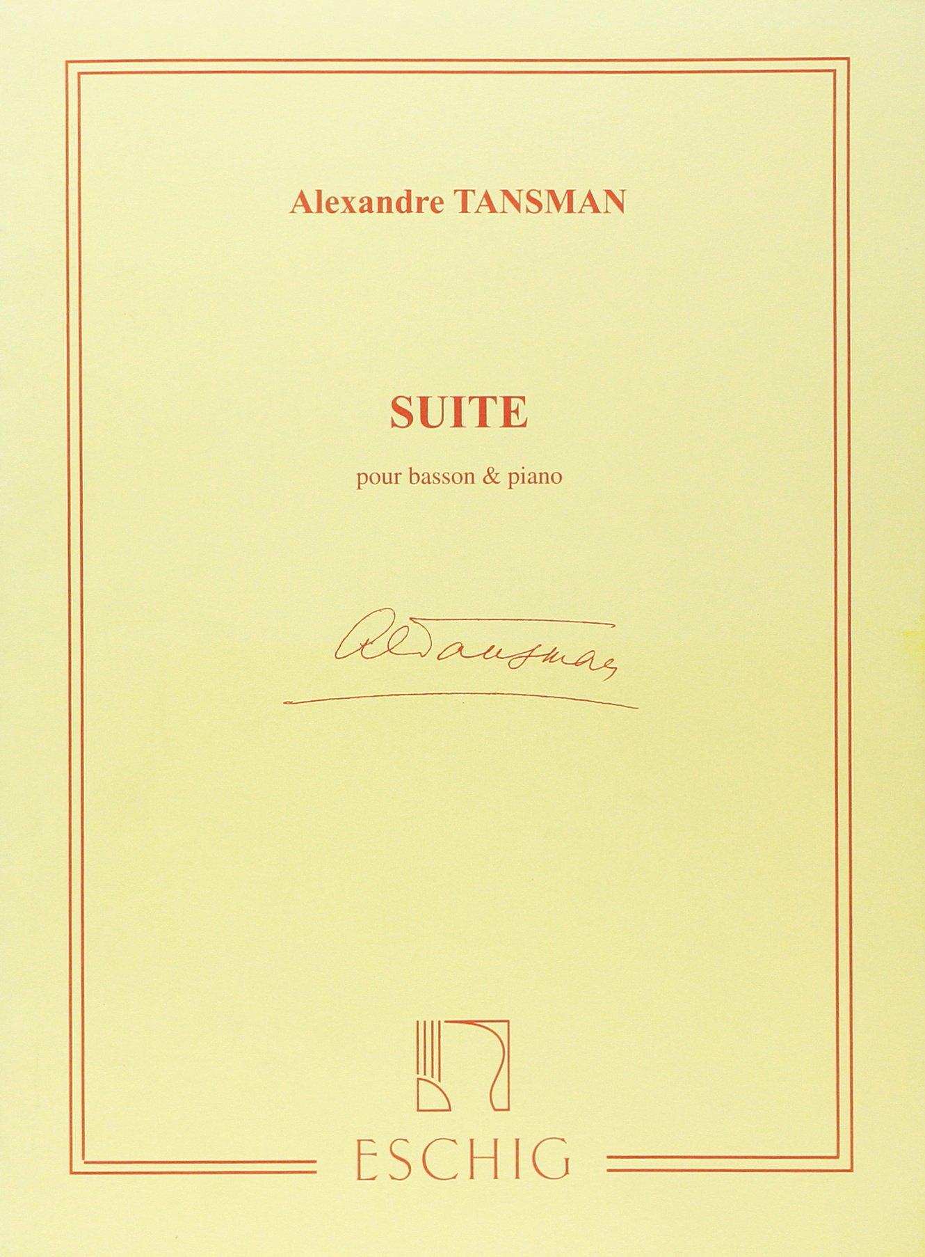 Suite - Bn/Po Partition – 1 janvier 2009 Tansman A Max Eschig B0029U2UXO ME7123