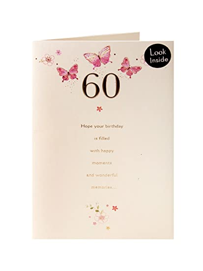 Pop Up Butterflies 60th Birthday Card