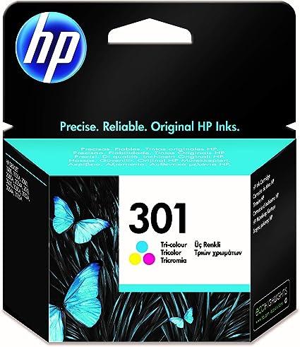 Oferta amazon: HP 301 CH562EE, Tricolor, Cartucho de Tinta Original, compatible con impresoras de inyección de tinta HP DeskJet 1050, 2540, 3050; OfficeJet 2620, 4630; ENVY 4500, 5530