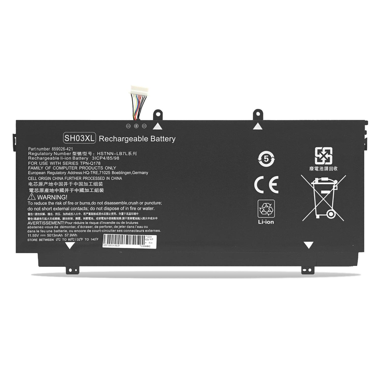 Bateria SH03XL HSTNN-LB7L 859026-421 859356-855 HP Spectre x