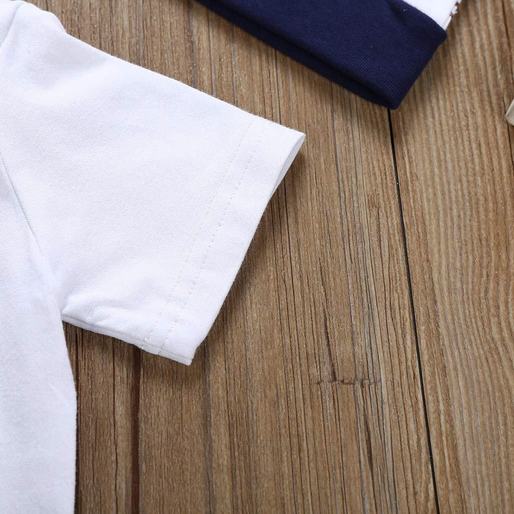 DORIC 2019 3PC Newborn Kids Baby Boy Newborn Outfits Clothes Letter Print Romper Jumpsuit+Pants+Hat Set