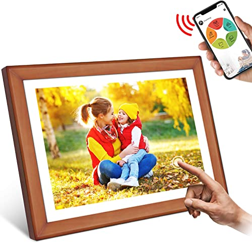 YENOCK Digital Picture Frame 10.1 Inch WiFi 16GB Digital Photo Frame 1280X800 HD IPS LCD Touch Screen Display Share Photos or Videos from Anywhere by Phone iOS or Android, Email, Facebook, Twitter