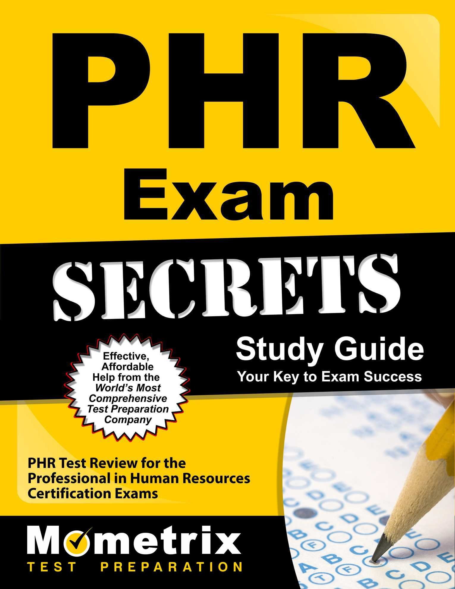 Phr Exam Secrets Study Guide Phr Test Review For The Professional
