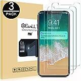 EasyULT [3-Pack] iPhone X/iPhone 10 Pellicola Protettiva, 3 Pack Pellicola Protettiva in Vetro Temperato per iPhone X/iPhone 10