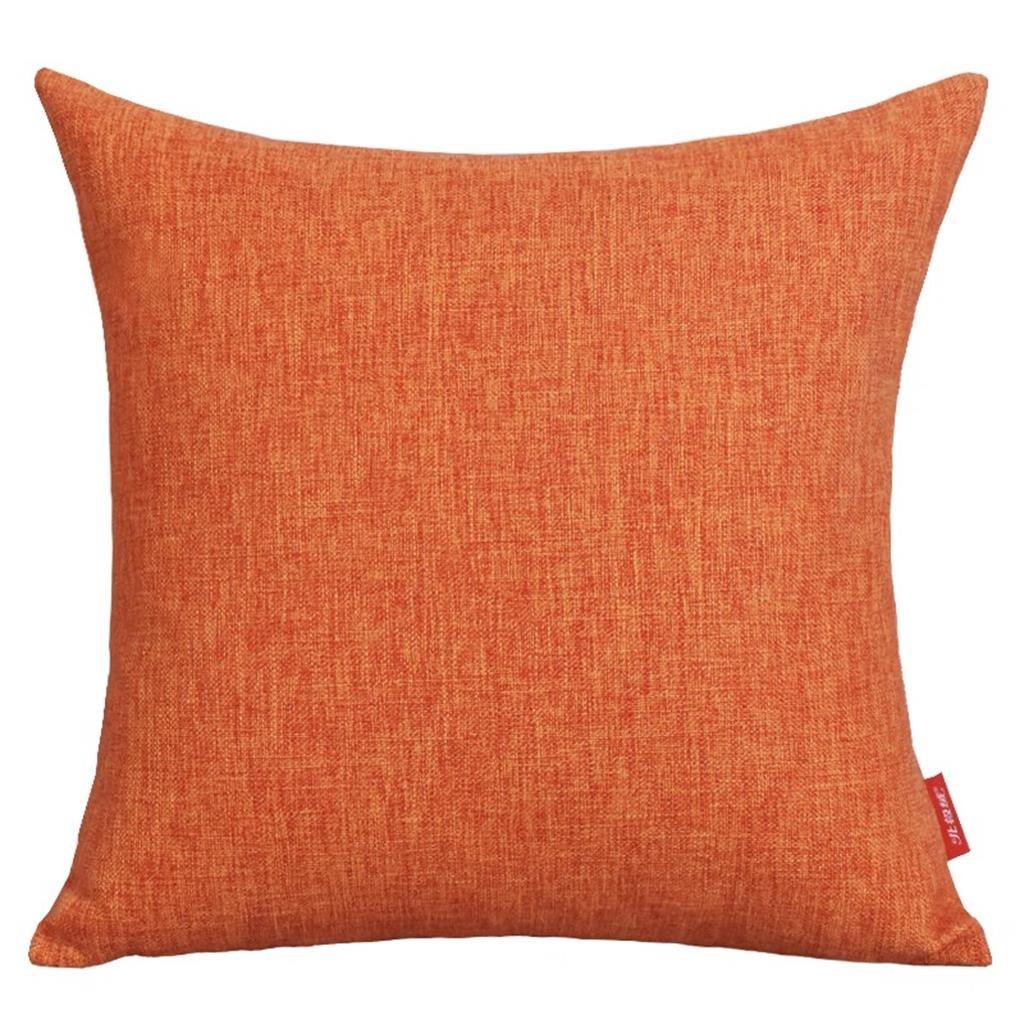 Naranja 45 * 45 cm arte estilo almohada sala de estar sofá cama oficina reposacabezas