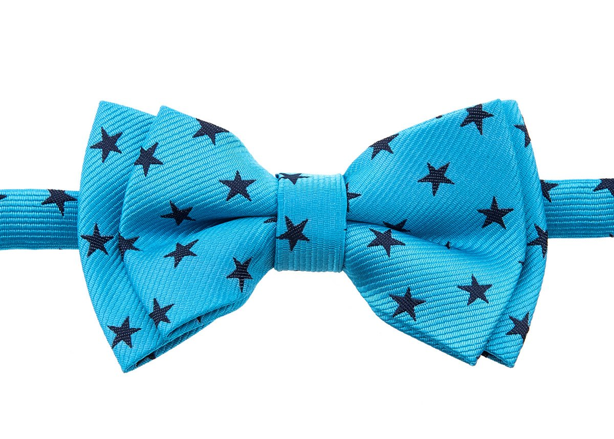 Retreez Stylish Stars Woven Microfiber Pre-tied Boy's Bow Tie