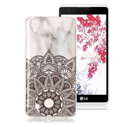 Funda Mármol para LG X Power, Ronger Carcasa Gel TPU Silicona Marble Case Cover Funda Ultra Fino Flexible con Patrón de Piedra para Funda LG X Power, ...
