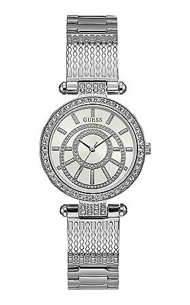 Guess Reloj Analógico para Mujer de Cuarzo con Correa en Acero Inoxidable W1008L1: Amazon.es: Relojes