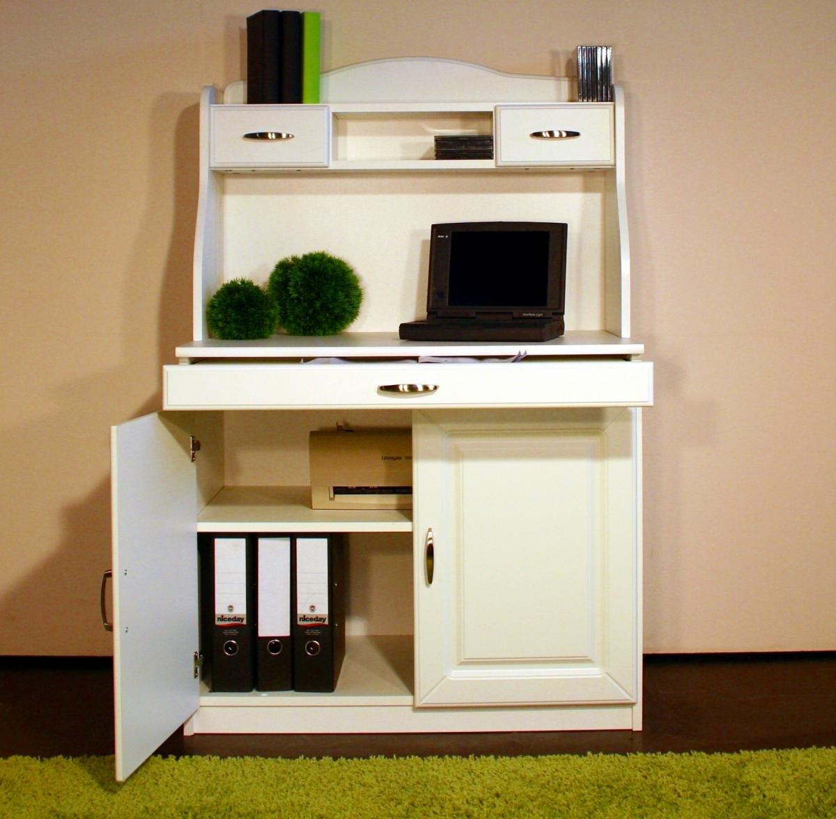 7111 - Sekretär im Landhaus - Stil, in Weiß: Amazon.de: Küche ...