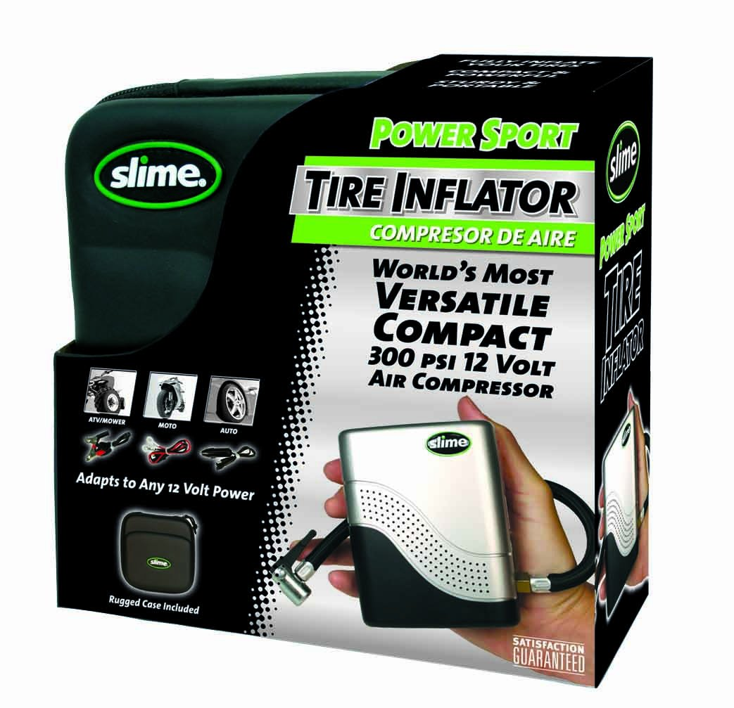 2. Slime 40001 Motorcycle Tire Inflator - Best Mini Air Compressor