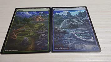 Custom Basic Land non-foil MTG card Altered art 1x Full Art Forest