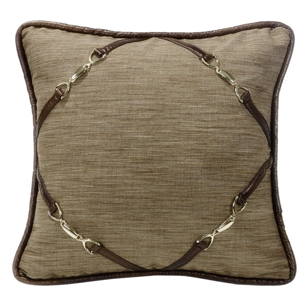 HiEnd Accents Highland Lodge Buckle Pillow, 18x18